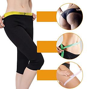 cheap Fitness Gear & Accessories-Slimming Pants Capris Leggings Neoprene Stretchy Hot Sweat Weight Loss Fat Burner Gym Tummy Yoga Fitness Gym Workout For Men Women Leg Abdomen