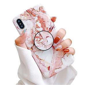cheap iPhone Cases-Case For Apple iPhone XS / iPhone XR / iPhone XS Max with Stand / IMD / Frosted Back Cover Marble Soft TPU