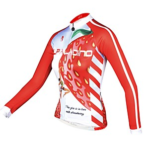 povoljno Biciklističke majice-ILPALADINO Žene Dugih rukava Biciklistička majica Zima Runo Elastan Pink Bicikl Biciklistička majica Majice Brdski biciklizam biciklom na cesti Ugrijati Podstava od flisa Ultraviolet Resistant
