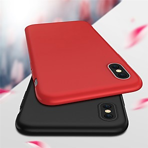cheap iPhone Cases-Case For Apple iPhone X / iPhone 8 Plus / iPhone 8 Ultra-thin / Frosted Back Cover Solid Colored Soft TPU