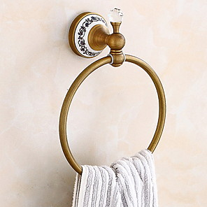 cheap Towel Bars-Towel Bar Premium Design / Elegant Cool Antique Brass 2pc towel ring Wall Mounted