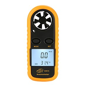 cheap Testers & Detectors-BENETECH GM816 Digital Anemometer Thermometer Wind Speed Air Velocity Airflow Temperature Gauge Windmeter with LCD Backlight