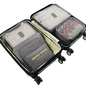 cheap Storage & Organization-6 sets Travel Bag / Travel Organizer /  Packing Organizer Large Capacity / Waterproof / Ultra Light (UL) Non-woven Fabrics Travel drawstring with window travel shoe storage bags
