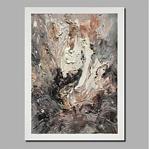 cheap Framed Arts-Oil Painting Hand Painted - Abstract Landscape Comtemporary Modern Stretched Canvas / Rolled Canvas