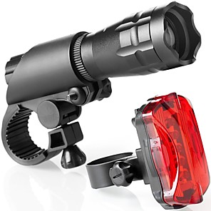 cheap Bike Lights & Reflectors-Bike Light Rechargeable Bike Light Set Front Bike Light Flashlight Cree® Mountain Bike MTB Bicycle Cycling Waterproof Super Brightest Safety Portable 160 lm Rechargeable 18650 lithium battery White