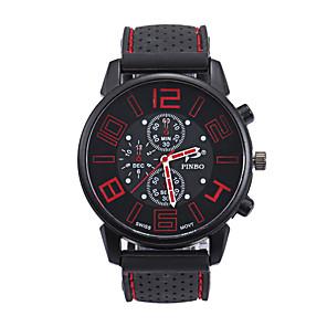 cheap Sport Watches-Men's Sport Watch Quartz Silicone Black Casual Watch Analog Fashion - Red Green Blue