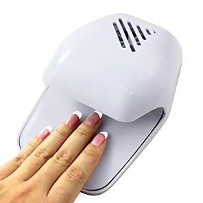 cheap Nail Dryer & Lamp-electric wind automatic pressure activates nail dryer white tip fan powered by 2 aa battery