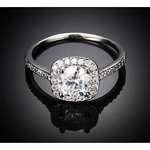 cheap Rings-Women's Open Ring Cubic Zirconia 1pc Gold Silver Rhinestone Cubic Fashion Date Festival Jewelry Classic