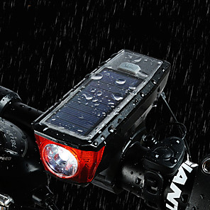cheap Bike Lights & Reflectors-LED Bike Light Front Bike Light Bike Horn Light Mountain Bike MTB Bicycle Cycling Waterproof Super Brightest Portable Warning USB 350 lm Rechargeable Battery Powered Solar Powered White Cycling / Bike