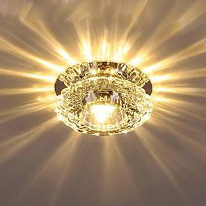 cheap Pendant Lights-1-Light 10 cm Crystal Flush Mount Lights Crystal Crystal Electroplated LED AC110-240V / FCC