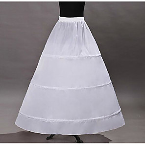 cheap Wedding Slips-Princess Petticoat Hoop Skirt Tutu Under Skirt Classic Lolita Organza White / Crinoline