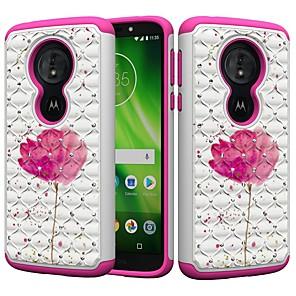 cheap Other Phone Case-Case For Motorola MOTO G6 / Moto G6 Play / Moto E5 Play Shockproof / Rhinestone / Pattern Back Cover Rhinestone / Flower Hard PC