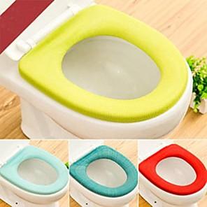 cheap Bathroom Gadgets-2Pcs Soft Warm Long Plush Toilet Seat Cover Mat Pad Lid Comfortable Washable Warmer Health Toilet Closestool Seat Cover Random Color