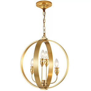 cheap Chandeliers-QIHengZhaoMing 5-Light 40 cm Chandelier Metal Globe Brass / Electroplated Chic & Modern 110-120V / 220-240V