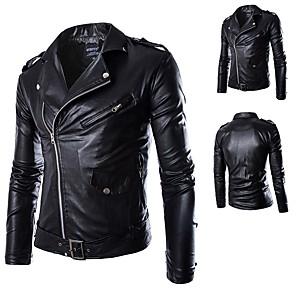 povoljno Motociklističke jakne-AOWOFS Y012 Odjeća za motocikle Zakó za Muškarci PU koža / Polyster Proljeće & Jesen / Zima Vodootporno / Otporne na nošenje / Protection