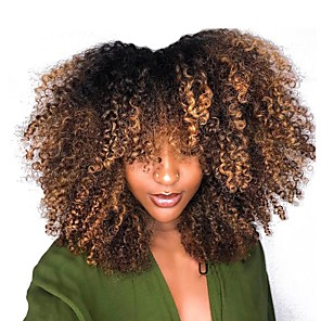 cheap Human Hair Wigs-Dolago Short Bob Human Hair Wigs 250% Density with Baby Hair Ombre Blonde Kinky Curly 4x4 Closure Lace Front Wig