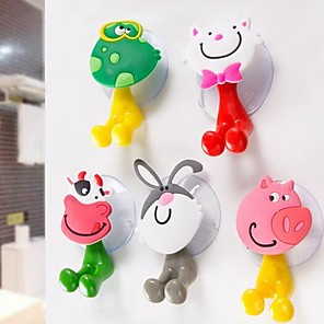 cheap Bathroom Gadgets-Hooks For Children / Cartoon / Creative Cartoon PVC(PolyVinyl Chloride) 1pc Toothbrush & Accessories