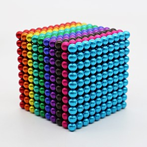 cheap Building Blocks-1000 pcs 3mm 5mm Magnet Toy Magnetic Balls Magnet Toy Building Blocks Super Strong Rare-Earth Magnets Neodymium Magnet Magnetic Stress and Anxiety Relief Office Desk Toys Relieves ADD, ADHD, Anxiety