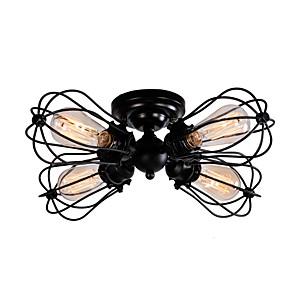 cheap Ceiling Lights-QINGMING® 5-Light 38cm(15inch) Mini Style Flush Mount Lights Metal Painted Finishes Vintage 110-120V / 220-240V / E26 / E27
