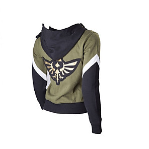 cheap Videogame Cosplay Accessories-Inspired by The Legend of Zelda Link Anime Cosplay Costumes Japanese Cosplay Hoodies Patchwork Special Design Hoodie For Unisex