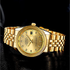 cheap Men's Bracelets-Men's Wrist Watch Quartz Stainless Steel Gold Chronograph Luminous New Design Analog Luxury Elegant - Black White Gold One Year Battery Life