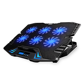 cheap Stands & Cooling Pads-Adjustable LED Screen Smart Control Laptop Cooling Pad with 5 Fans
