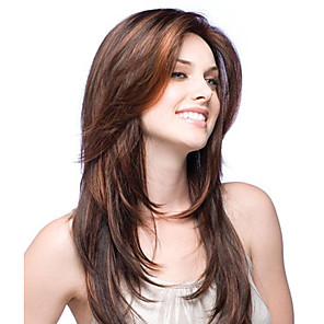 cheap Synthetic Trendy Wigs-premierwigs 8a 8-26inch layered straight brazilian virgin glueless full lace human hair wigs glueless lace front wigs