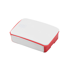 cheap Raspberry Pi-Dedicated Enclosure Box for Raspberry Pi 3B Generation 2 ABS Material 26*96*71mm White-Red