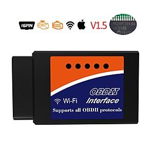 Недорогие Приборы бортовой диагностики-elm327 16 pin obd2 wifi v1.5 инструмент для диагностики автомобилей детектор неисправностей автомобиля детектор неисправностей автомобиля сканер кода сканер