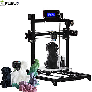cheap Walkie Talkies-Flsun-C1 DIY 3D Printer KIT Large Printing Size 200*200*220mm Auto Level Heated Bed One Rolls Filament