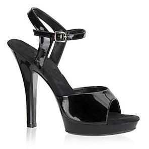 cheap Women's Sandals-Women's Heels Stiletto Heel Open Toe Buckle Patent Leather / Leatherette Summer / Fall Black / Gray / Red / Party & Evening / Party & Evening