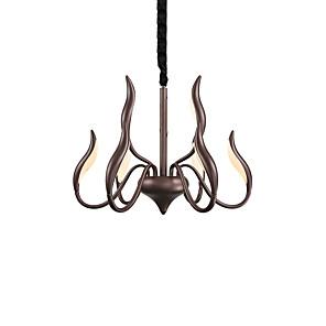 cheap Candle-Style Design-ZHISHU 9-Light 62 cm New Design Chandelier Metal Sputnik Painted Finishes Modern 110-120V / 220-240V