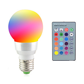 cheap LED Smart Bulbs-2 W LED Stage Lights 2700-7000 lm E14 E26 / E27 1 LED Beads High Power LED Remote-Controlled Decorative RGB 85-265 V / 1 pc / RoHS / CCC