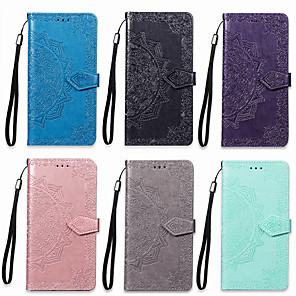 cheap OPPOCase-Case For OPPO OPPO F5 Wallet / Card Holder / with Stand Full Body Cases Mandala Hard PU Leather