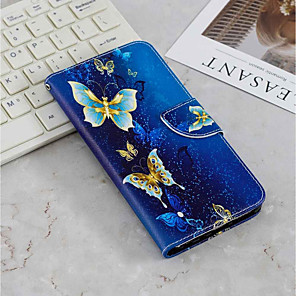 cheap Samsung Case-Case For Samsung Galaxy J6 (2018) / J6 Plus / J4 (2018) Wallet / Card Holder / with Stand Full Body Cases Butterfly Hard PU Leather