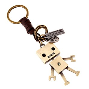 cheap Keychain Favors-Classic Theme / Robot / Creative Keychain Favors Chrome / Calf Hair Keychains - 1 pcs All Seasons