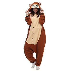 cheap Kigurumi Pajamas-Adults' Kigurumi Pajamas Monkey Animal Onesie Pajamas Polar Fleece Brown Cosplay For Men and Women Animal Sleepwear Cartoon Festival / Holiday Costumes