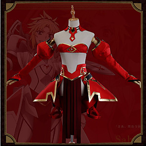 cheap Anime Costumes-Inspired by Fate / Grand Order FGO Mordred Anime Cosplay Costumes Japanese Cosplay Suits Art Deco Novelty Skirt Corset Cloak For Unisex / More Accessories / More Accessories