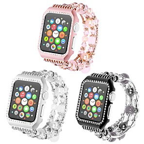 cheap Smartwatches-Metal Shell Watch Band Strap for Apple Watch Series 4/3/2/1 Black / White / Pink 23cm / 9 Inches 2.1cm / 0.83 Inches