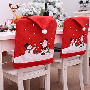 cheap Christmas Decorations-Christmas Theme Chair Back Seat Cover Decorative Prop