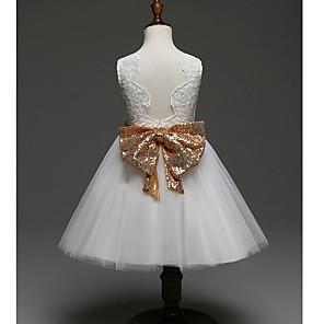 お買い得  女児 ドレス-赤ちゃん 女の子 ベーシック 日常 ソリッド 長袖 レギュラー コットン ドレス ホワイト