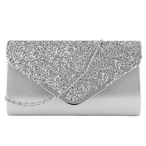 cheap Women's Heels-Women's Bags PU Leather Evening Bag Glitter for Party / Event / Party / Holiday Black / Blushing Pink / Gold / Silver / Wedding Bags