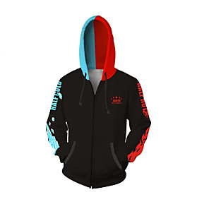 cheap Everyday Cosplay Anime Hoodies & T-Shirts-Inspired by My Hero Academia Boko No Hero Midoriya Izuku Anime Cosplay Costumes Japanese Cosplay Hoodies Patchwork Special Design Hoodie For Unisex