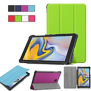 cheap Samsung Case-Case For Samsung Galaxy Tab E 8.0 / Tab S2 8.0 Origami / Ultra-thin / with Stand Full Body Cases Solid Colored Hard PU Leather for Tab A 7.0 (2016) / Tab A 8.0 (2017) / Tab A 8.0