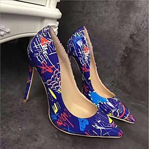 cheap Women's Boots-Women's PU(Polyurethane) Spring Casual Heels Stiletto Heel White / Black / Blue