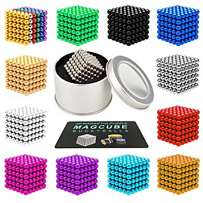 cheap Microphones & Accessories-216 pcs 3mm 5mm Magnet Toy Magnetic Balls Magnet Toy Building Blocks Super Strong Rare-Earth Magnets Neodymium Magnet Neodymium Magnet Magnetic Stress and Anxiety Relief Office Desk Toys Relieves