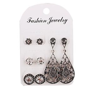 cheap Earrings-Women's Stud Earrings Classic Simple Vintage Earrings Jewelry Silver For Daily Formal 4 Pairs