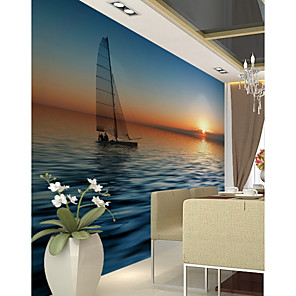 cheap Wallpaper-Wallpaper / Mural Canvas Wall Covering - Adhesive required Art Deco / Pattern / 3D