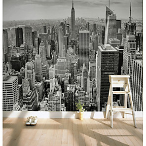 cheap Wall Murals-Wallpaper / Mural Canvas Wall Covering - Adhesive required Art Deco / Pattern / 3D