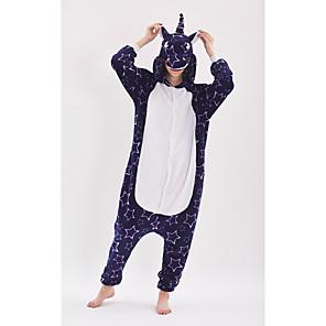 cheap Kigurumi Pajamas-Adults' Kigurumi Pajamas Unicorn Anime Pony Onesie Pajamas polyester fibre Purple Cosplay For Men and Women Animal Sleepwear Cartoon Festival / Holiday Costumes